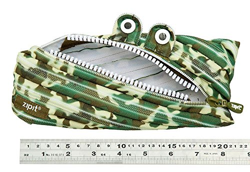 ZIPIT Camo Monster Pencil Case, Green Photo #2