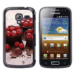 TopCaseStore / la caja del caucho duro de la cubierta de protección de la piel - Fruit Cupcakes - Samsung Galaxy Ace 2 I8160 Ace II X S7560M