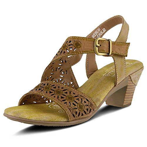 L'ARTISTE Leather Sandal Style by Noreen Women's Beige Spring Step 7rwgq76