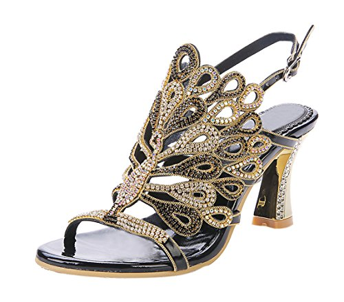 vibur-seven-womens-peacock-rhinestones-sheepskin-wide-heeled-sandals