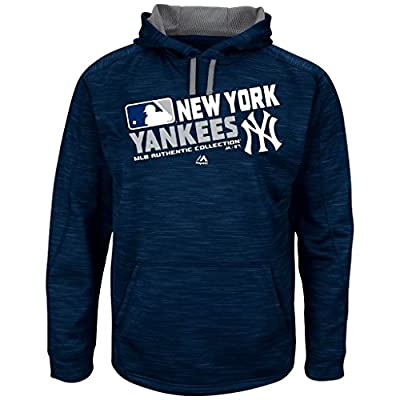 Majestic MLB-Authentic-On Field-Team Choice -Streak Therma Base Fleece Hoodie Sweatshirt-New York Yankees-Medium