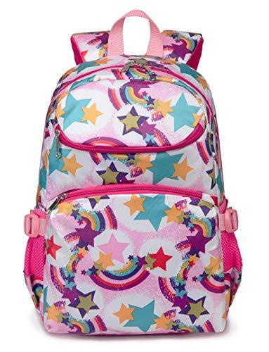 Cute Kids School Backpacks for Girls Kindergarten Elementary School Bags Girly Bookbags for Children (Rainbow Pink) (Best Backpack For First Grader)