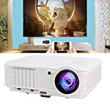 Video Projector, 3700 Lumens LCD LED Home Theater Cinema Projector Full HD 1080P 720P Support, with HDMI USB VGA TV Built-in 10W Speaker Keystone Remote, USB Cable for Direct Phone Screen Mirroring