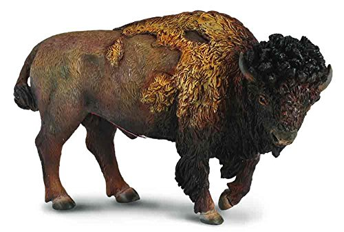 (CollectA Wildlife American Bison Great Plains Toy Figure - Authentic Hand Painted)
