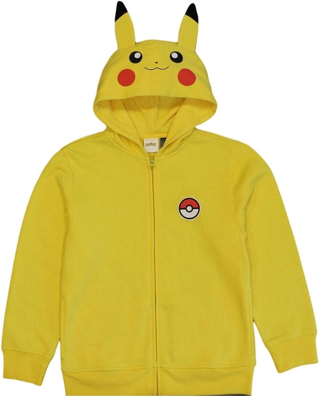 Mens//Kids T-Shirt//Hoodie//Sweat Novelty Pokemon Pika Picachu