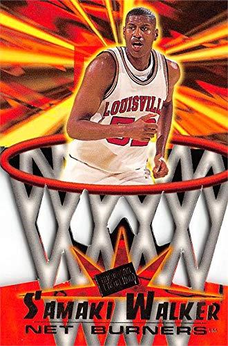 (Samaki Walker Basketball Card (Louisville Cardinals) 1996 Press Pass Die Cut Net Burners Rookie #NB9)
