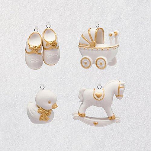 Hallmark Keepsake Mini Christmas Ornaments 2018 Year Dated, Welcome Baby Miniature, Set of 4 ()