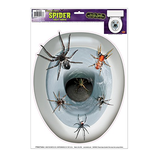 Spider Toilet Topper Peel 'N Place Party Accessory (1 count) (1/Sh) -