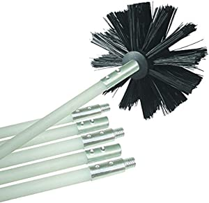 Flexible Dryer Vent Cleaning Kit, Lint Remover, Extends up to 24 Feet, Synthetic Clean Brush Head, Use With or Without a Power Drill (12-feet)