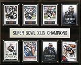 NFL New England Patriots Super Bowl XLIXI Plaque (8-Card), 12 x 15-Inch