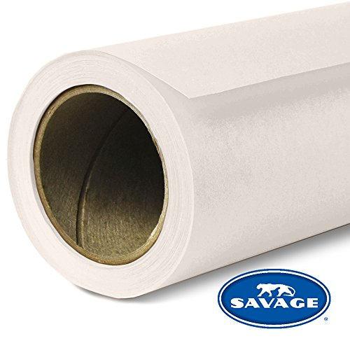 Paper Backdrops - Savage SV-53X12-51 Seamless Background Paper, 53-Inch wide x 12 Yards, Bone, 51