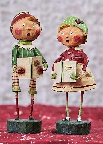 Lori Mitchell Henry & Holly Come A Caroling (Set of 2) 87545 (Figurine Set Caroling Christmas)