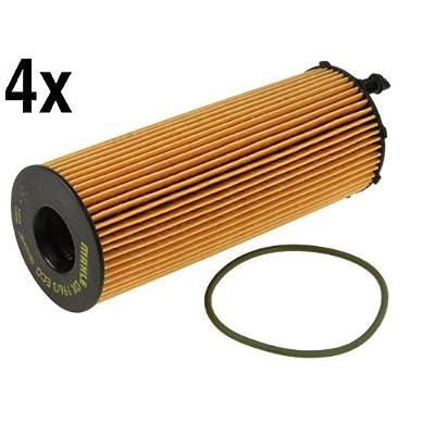 VAG 3.0L TDI (2009+) Oil Filter Kit (set of 4) MAHLE: Automotive