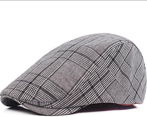 Boinas Sheng Gorra de Ocio versión Coreana del Sombrero de Marea Delante  verificada Sombrero de los Hombres británicos Negro (Color   Gris)   Amazon.es  ... 1160ea50e4a