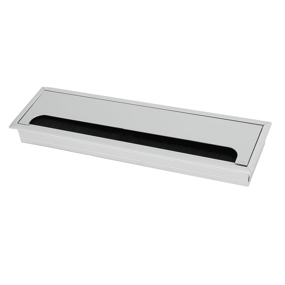 uxcell Computer Desk 280mmx80mm Aluminum Rectangle Shape Grommet Wire Cable Hole Cover by uxcell