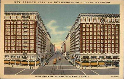 New Rosslyn Hotels Los Angeles, California Original Vintage - Los Angeles Colortone