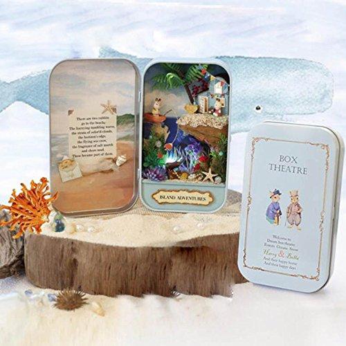 Ayangg Kit de casa de muñecas 3D DIY Cuento de Hadas en Miniatura Regalo de Juguete para cumpleaños/Niños /...