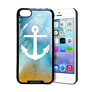 Shawnex Pastel Anchor iPhone 5C Case - Thin Shell Plastic Protective Case iPhone 5C Case