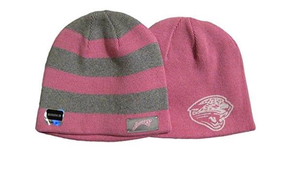 Amazon.com   Fan Apparel Jacksonville Jaguars Women s Pink   Gray  Reversible Beanie Hat Toque   Sports   Outdoors e35229993ed