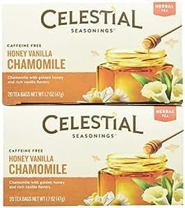 Celestial Seasonings Honey Vanilla Chamomile Tea Bags, 20 ct, 2 pk