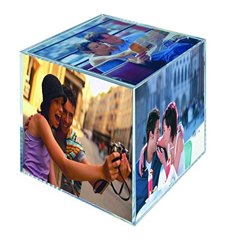 MCS 3.25x3.25 Inch Clear Plastic 6 Sided Photo Cube 4-Pack, Clear (65750) by MCS (Image #1)