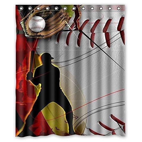 Custom Baseball Window Curtain 50″x84″ (One Piece) by Hot Curtain