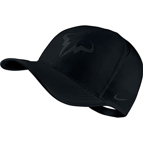 6ff5aa4d0ad Buy Nike Mens Nike Rafael Nadal Featherlight Adjustable Tennis Hat Black  Black Online at Low Prices in India - Amazon.in