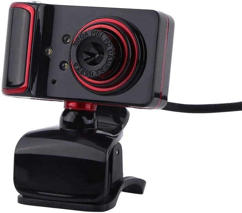 Samfox Cámara, 16M Pixel HD Webcam Clip-on LED Cámara Web USB ...
