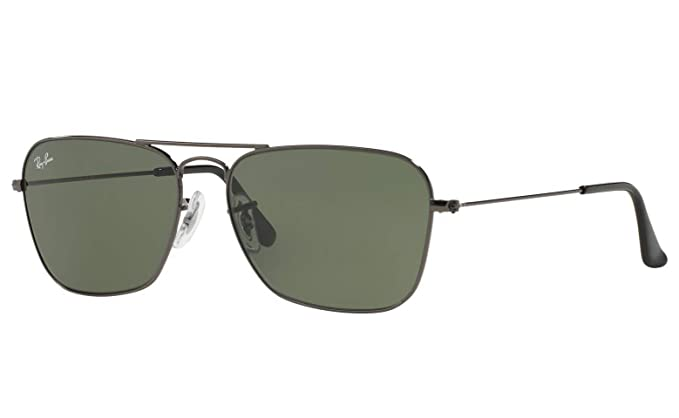 Ray Ban Caravan RB3136 004 Gunmetal/Green Classic G-15 Sunglasses 58mm