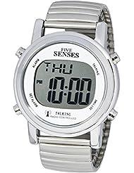ATOMIC! Talking Watch - Sets Itself SENSES Metal Easy-To-Read Talking Watch (SRTKD1-2)