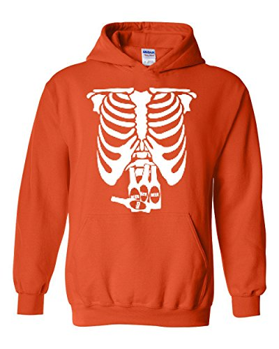 NIB White Skeleton w Beers Gift For Halloween Costume Party Match With Masks Men's Hoodies (Dollar Tree Halloween Masks)