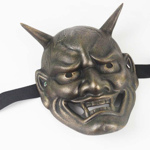 Collectible Halloween Masks (Panna Japanese Buddhist Hannya Evil Bronze Mask Animation Collectable)