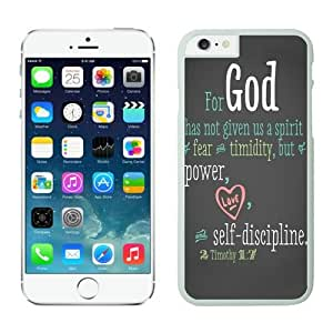 Bible Quote iPhone 6 plus 5.5 inches Cases White