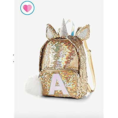 5ed9365f98 Justice Flip Sequin Mini Backpack Silver Gold Unicorn new ...