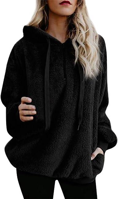 Women/'S Coat Hooded Zipper Long Sleeve Pocket Long Sweatshirt Hoodies Pullovers