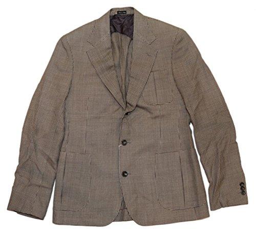 - Ralph Lauren Polo RRL Mens Houndstooth Sport Coat Blazer Jacket Italy Brown Beige 40R