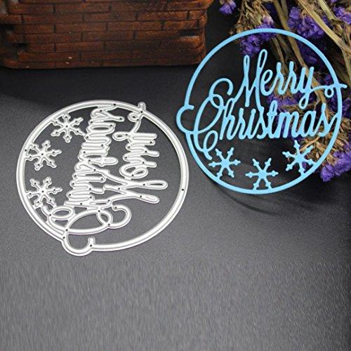 Transer Metal Cutting Dies Stencil DIY Scrapbooking Embossing Album Paper Card Craft (K, Silver)]()