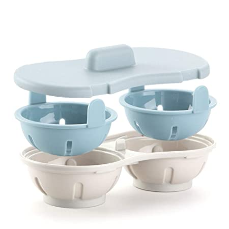 Escalfador de huevos para microondas, doble taza, diseño de ...