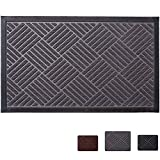Mibao Durable Rubber Doormat, 24''x 36'' Low-Profile Waterproof, Non Slip, Easy Clean, Washable Indoor/Outdoor Mats for Entry, Patio, Bathroom