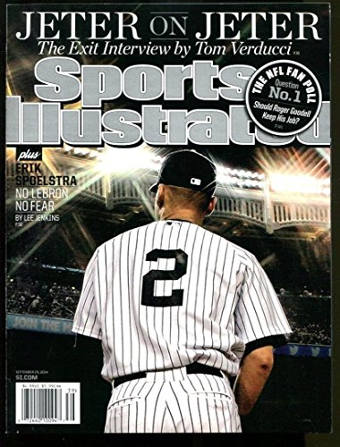 3cec98a81a1 Galleon - 2014 Sports Illustrated Derek Jeter Newsstand No Label Yankees  9/29/14 Mint