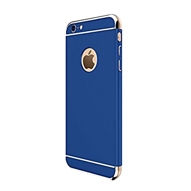 Teryei Funda compatible con iPhone 6 Plus/iPhone 6S Plus, 3 en 1 Hard PC Case 360 Degree protección Anti-Scratch Carcasa [Ultra Slim] enchapado ...