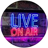 AdvpPro 2C On Air Live Recording Studio Video Room Dual Color LED Neon Sign Blue & Red 12'' x 8.5'' st6s32-i3064-br