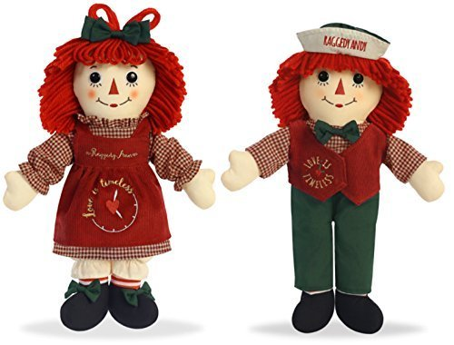 Raggedy Ann & Andy Love is Timeless Dolls by Aurora for Christmas Holiday - Ann Collectibles Raggedy Andy And