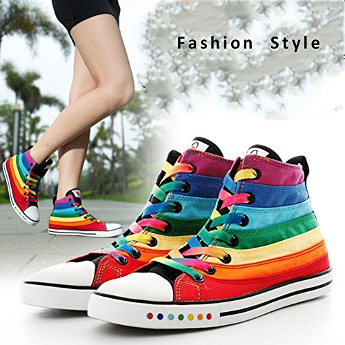Pp Mode Femmes Talon Plat Casual Toile Sneaker Haut Top Chaussures De Sport 6b (m)