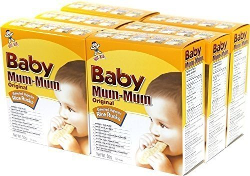 Hot Kid Baby Mum-Mum Original Flavor Rice Biscuit, 24-Count