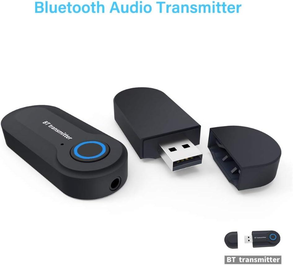 GT-09S 3.5mm Jack USB Wireless Bluetooth Audio Transmitter Adapter for Laptop hudiemm0B Bluetooth Transmitter