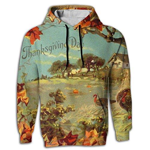 Fashion Thanksgiving Background Adult Men's Hoodies Printed Hooded Sweatshirt Pullover Fleece Hoodie hot sale