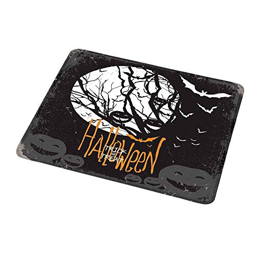 Natural Rubber Mouse Pad Vintage Halloween,Halloween Themed Image