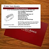 My Trio Rings 1/7 CT. T.W. Diamond Mens Wedding Band 10K White Gold