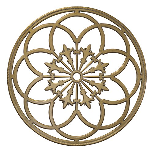 Kate and Laurel Ondelette Round Medallion Wood Wall Art Plaque, 32 inch Diameter, Gold by Kate and Laurel (Image #2)